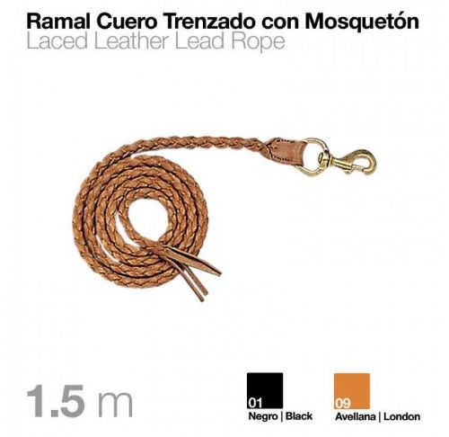 Short leather lead/show rope